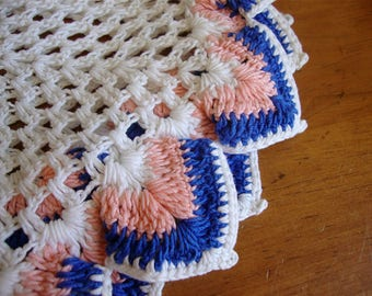 Extra Large Vintage Crocheted Leaves Doily Doilies 15 x 25 Gorgeous!
