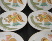 Christmas Fantasy by Georges Briard Six Luncheon or Dessert Plates