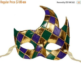 SUPPLY SALE Mardi Gras Mask MZ1030, Mardi Gras Decor, Mardi Gras Decorations, Mardi Gras Supplies
