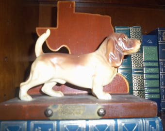 Old Trophy, Dog Show, Bookend, Dallas, Canine Collectible, Texas, 1977