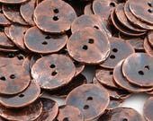 Bulk Button-16mm Cornflake-Casting-Antique Copper-Quantity 10