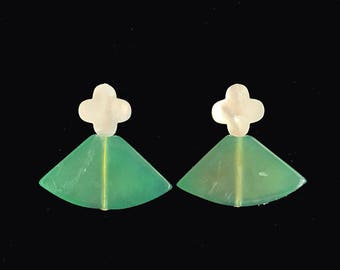 Quatrefoil Pearl Earrings