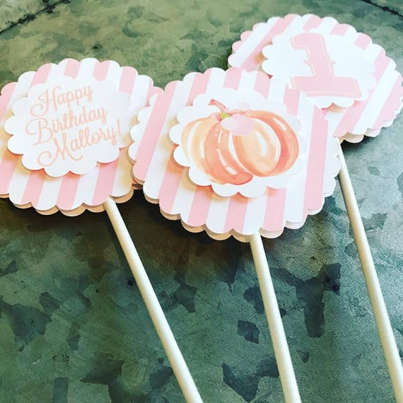 Pumpkin Party Cake Toppers or Centerpieces