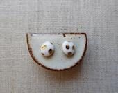 Gold Polka Dot Oval Disc ...