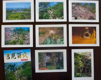 Lot of 8 Japanese Postcards from Yoshimi, Japan - Printed in Japan - Vintage Travel Souvenir