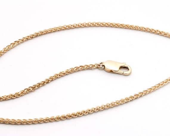 14k yellow gold wheat chain - 1.8mm - 18 inches