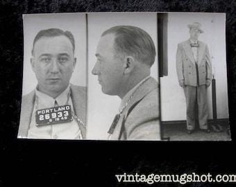 1949  Portland Oregon  Police Department Criminal Gangster Looking Safe Burglar Narcotics