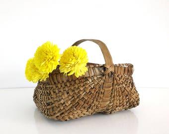 Rustic Woven Basket / Handmade Basket