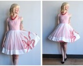 1960s Dress // Flair Gingham and Chiffon Dress // vintage early 60s dress
