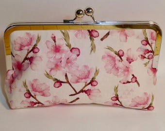Bridesmaid Clutch |Wedding| Cherry Blossom Flower| Clutch