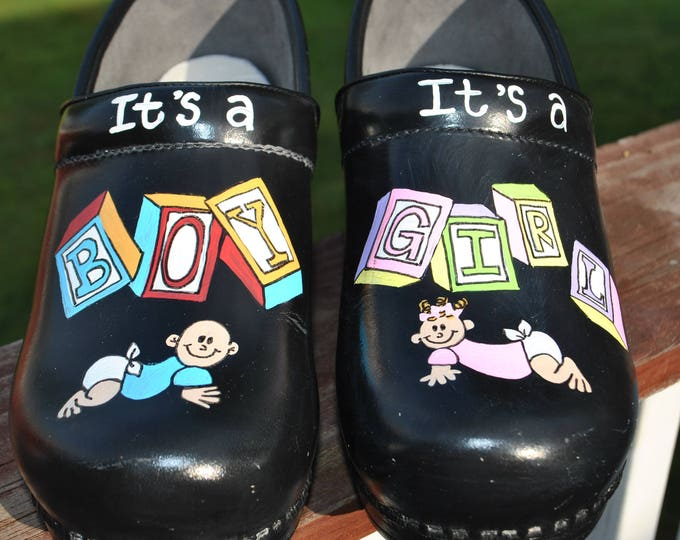 New NP nurses shoes It's a Boy It's a Girl custom art work.. sorry sold