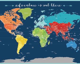Big world map worldmap etsy gumiabroncs Image collections