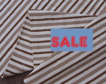 Guatemalan Fabric Brown and Cream on Sale Now