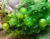 Vintage Lucite Grapes Driftwood Retro Acrylic