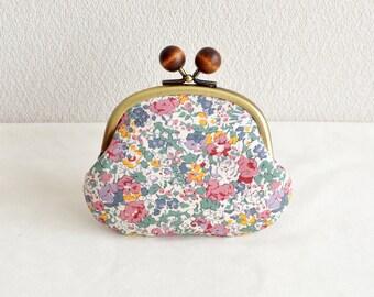 "Frame purse - Liberty ""Claire-Aude"" floral Candy coin purse"