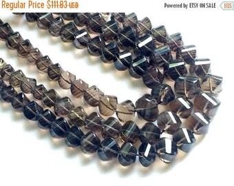 ON SALE 55% Smoky Quartz Beads, Smoky Quartz Twisted Nuggets, Smoky Quartz Necklace, 8mm - 14mm, 8 Inch, 22 Pcs - RAMA50