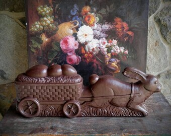 Rare Don Featherstone Easter Rabbit / Vintage Featherstone Blow Mold / Easter Blow Mold / Easter Bunny / Easter Decor