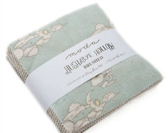 Hushabye Hollow by Lydia Nelson of Dreamy Quilts - BRUSHED COTTON Charm Pack (49010PPB) - Moda