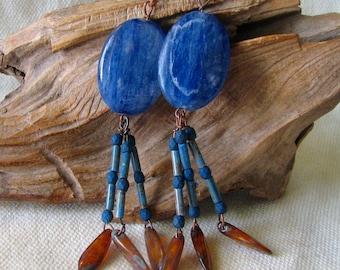 unusual kyanite earrings