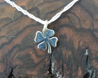 Clover Sterling Silver Charm  Pendant Necklace  /Teenager gift / Sterling Silver / Good Luck gift / co-worker gift / bridesmaid gift