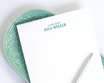 Personalized Large Notepad / Custom Notepad with Name / Custom Notepad / A9 Notepad for Letterhead / Half-Letter Size Notepad with Name