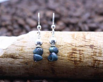 Leland Blue (Slag Glass) Earrings