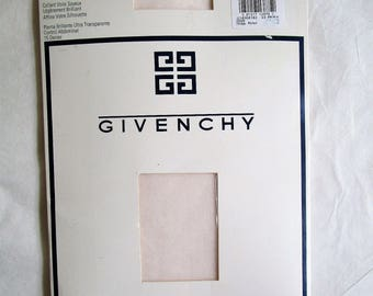 Vintage Early 1990s Stockings Givenchy Hoisery Blush Pink Gleamers 1993 Designer Nylons Small E