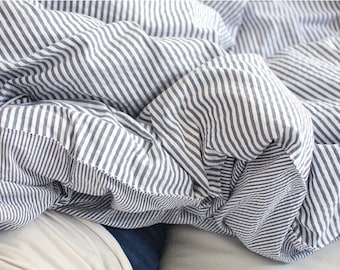 Yarn Dyed 4 mm Striped Seersucker Cotton by the yard (width 44 inches) 89075 Navy
