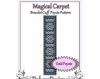 Bead Pattern Peyote(Bracelet Cuff)-Magical Carpet