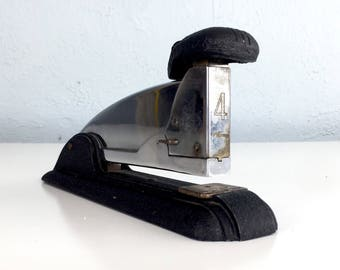 Vintage Office Stapler, Industrial Speed Products Co, Vintage Desk Decor, Made in Long Island City, New York