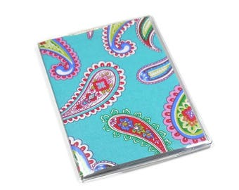 Passport Cover Punch of Paisley Teal