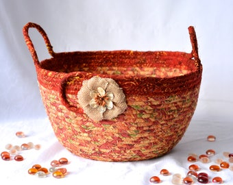 Indian Corn Bowl, Handmade Halloween Basket, Thanksgiving Gift Basket, Fall Batik Napkin Holder, Autumn Bread Basket, Fall Decoration