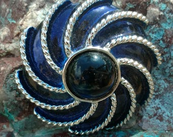 Vintage Brooch, brooches, pin, hat pin, Sapphire brooch, Sapphire jewelry, blue, costume jewelry, wedding jewelry, bridal Jewelry, Tribal
