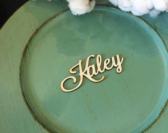 Wedding Place Card, Wooden place card, Custom name, Laser cut place card, Table Setting