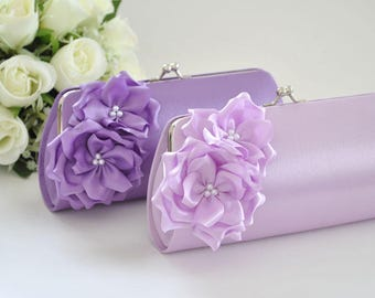 Lavender / Light Lavender - Bridesmaid Clutch / Bridal clutch - Choose the color you like