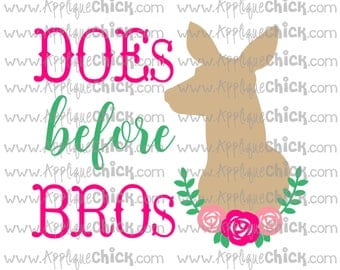 DOEs beore Bros SVG Clipart DXF Deer, Doe