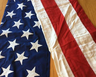Valley Forge U.S. 50 States Cotton Bunting Flag 5' x 9' 'Best' 2 Ply with Sewn On Stars-US flag, flag,Valley forge flag, Fourth of July