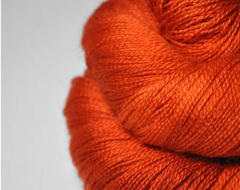 Red-hot metal  - BabyAlpaca/Silk Lace Yarn