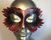 Ebyon Dragon Masquerade Renaissance Faire Mask - red and purple