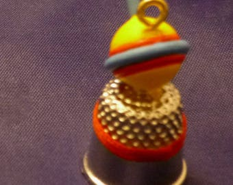 Vintage Enesco Collectible Spinner Top Thimble, 1986