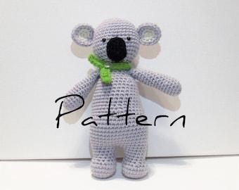 Crochet Koala Bear Pattern, Cute Koala Bear, Crochet Pattern, Koala Bear Amigurumi, Crochet Animal, Crochet Koala Plush, Koala Pattern