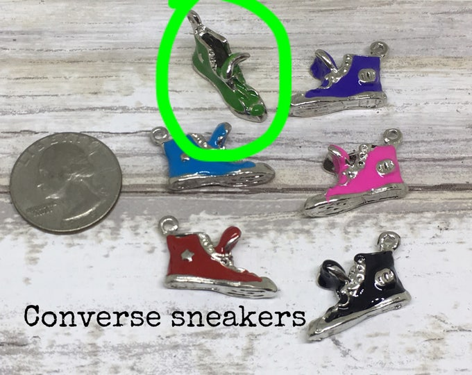Shoe charm necklace GREEN