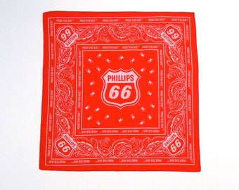 Phillips 66 Red Bandana Proud To Be Here Gas Station Advertisement Gas Pumps Paisley Filling Station Gasoline Service Station Petroleum
