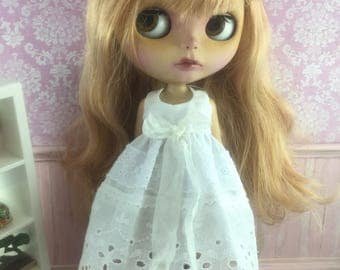Blythe Ribbon Lace Dress - Cream
