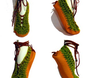 Moccasins, Lace Up Moccasins Slippers, Boho, Women's Moccasins, Ballet Slippers, Fairy Shoes, Festival, Hippie Clothes