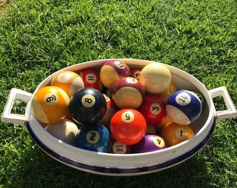 Vintage Pool Balls. 1930-1940s