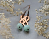 Pastel Infinity Earrings, Gemstone Infinity Jewelry, Personalized Pink Blue Green Dangle  Earrings,