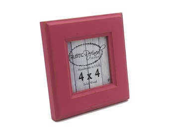 4x4 Moab picture frame - Hot Pink - Instagram, Home Decor, Wedding Favors, Wall Decor, Solid Wood, Handmade