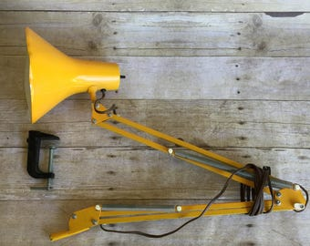FASE Industrial Swing Arm Lamp - Yellow - Desk Lamp