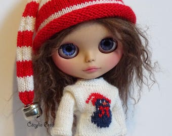 202. French and english knitting pattern PDF - Hat for Blythe